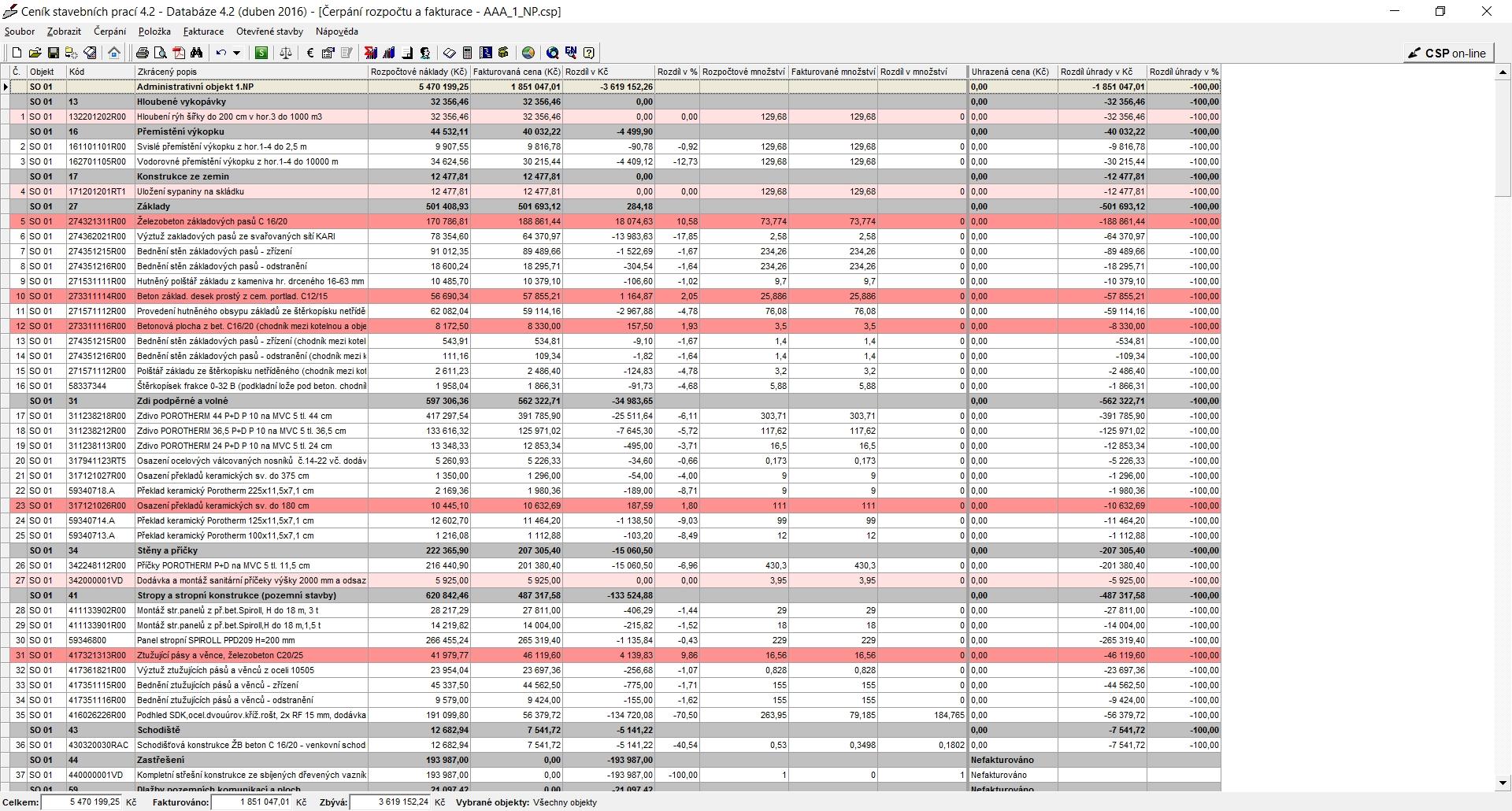 Stavební rozpočet v excelu