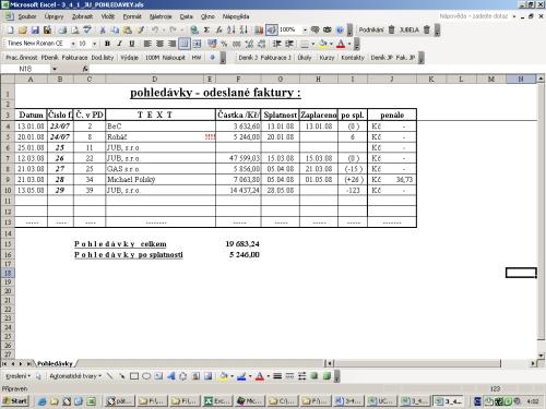 účetní Evidence V Excelu Napočítačicz