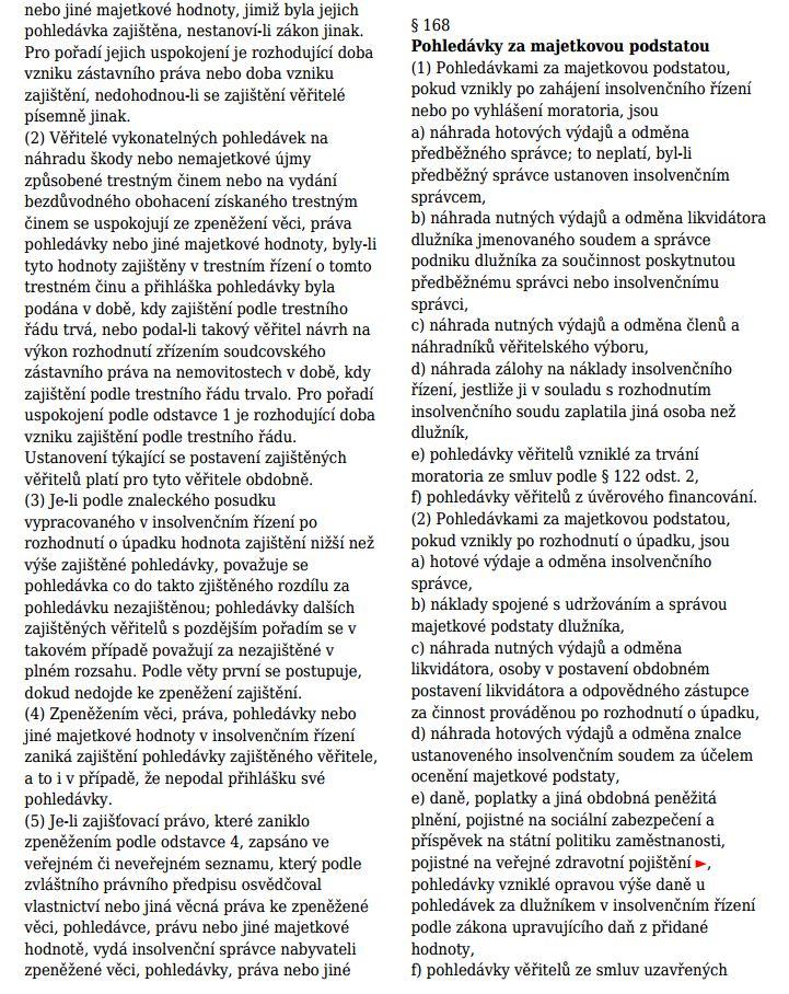 insolvenční zákon 2017 - ukázka